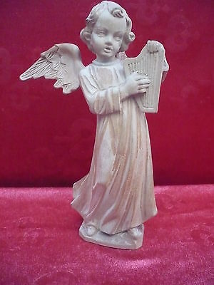 Beautiful, Old Wooden Figure __ Angel ___ Basswood_