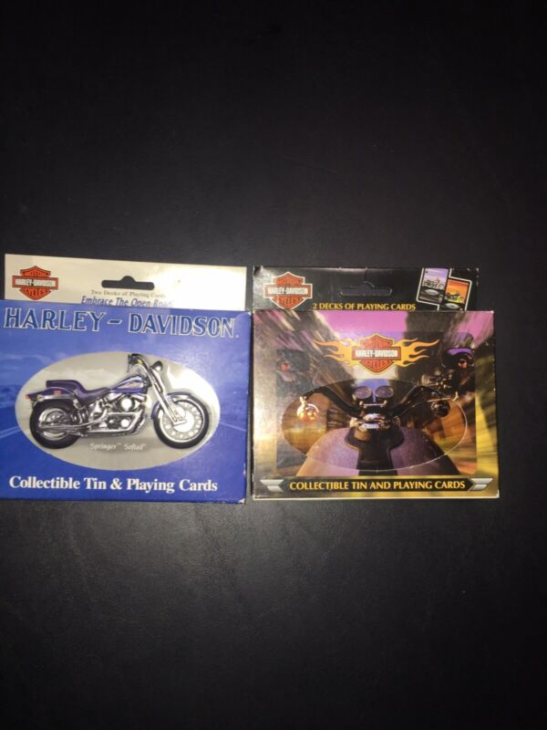 Harley Davidson Collectible Tin & Playing Cards (2)