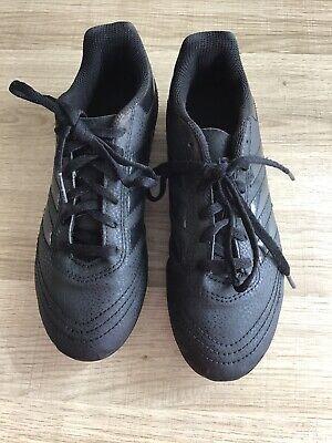 BOYS BLACK ADIDAS FOOTBALL BOOTS SIZE 2 PREDATOR BLADES VGC