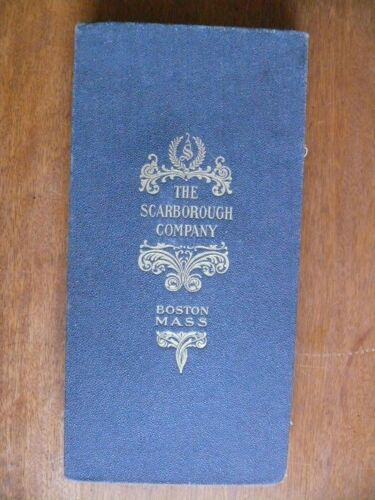 WHITE MOUNTAINS & CENTRAL NEW HAMPSHIRE TOPOGRAPHICAL MAP by Scarborough 1903