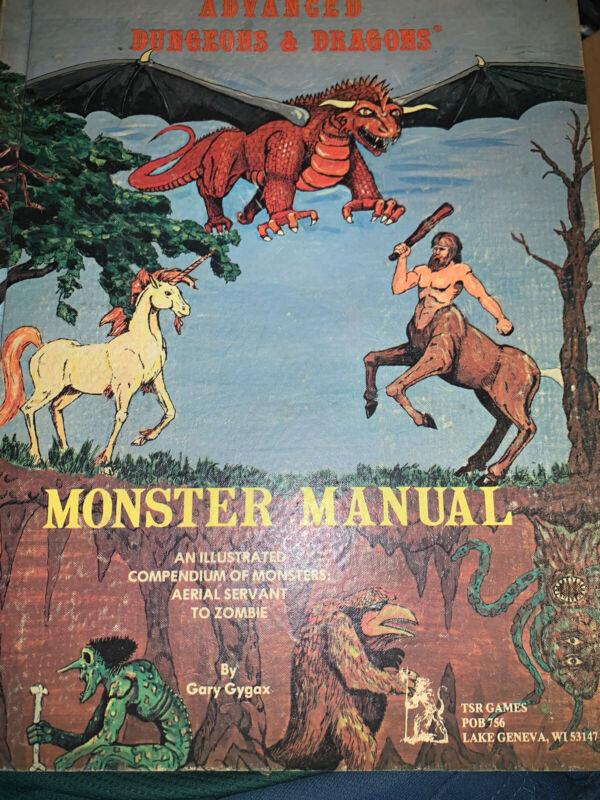 AD&D Lizard Logo - 2nd Printing Monster Manual - Dungeons & Dragons - TSR 2009