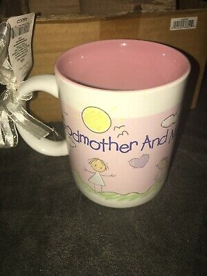 NWT Precious Moments Godmother Mug Me Coffee Baptism Girl Catholic Communion