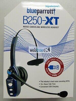 Blue Parrot B250-XT USB Bluetooth Wireless Trucker Headset VXI Phone Parrott NEW Blue Parrot B250xt Bluetooth