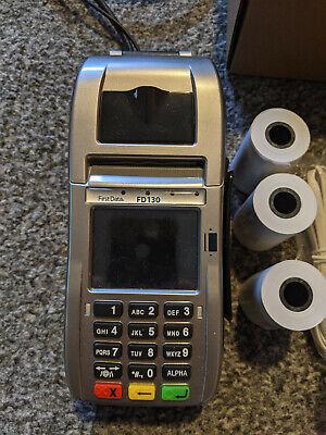 First Data Fd130 Emv Nfc Dialip Credit Card Machine
