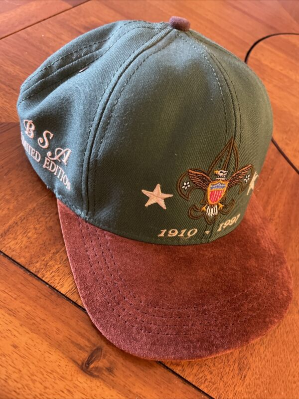 Vintage 1997 Boy Scouts of America Hat Cap BSA Limited Edition Baseball Made USA