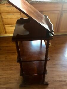Antique Standing Wood Plate Display Shelf