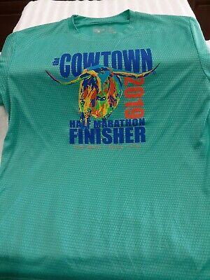 Ft Worth Texas 2019 Cowtown Auqa Half Marathon Finisher Shirt - Size (Ft Worth Square)