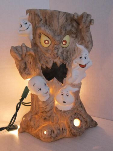 Casper Friendly Ghost Haunted Tree Candle Holder Ceramic Halloween Display