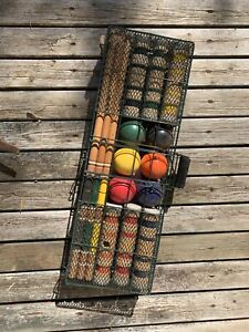 Croquet Set with Metal Carry Case $15