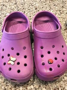 Girls purple crocs size 1/3