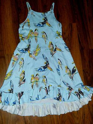 New Girls Tea Collection Light Blue Bird Hi-low Sundress Dress Size 6 Parakeets - Girls Light Blue Dress