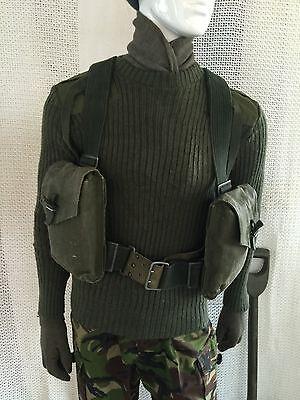 vintage swedish webbing & bag army surplus mod miliary fishing hunting shooting