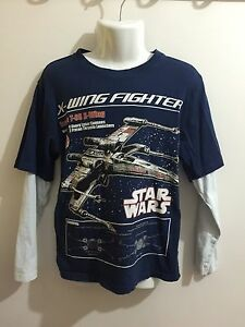 Star  Wars Boys Size 9 X-Wing T-Shirt Long Sleeves Canning Vale Canning Area Preview