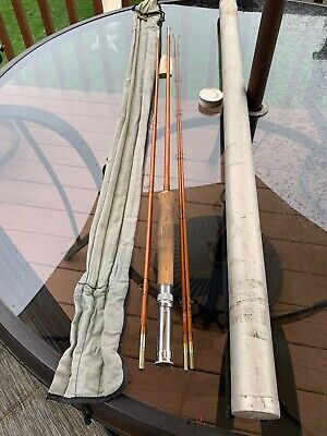 Heddon #19 Bamboo Fly Rod w/ Tube and Sack 4 Piece 9' 3/4 Wt