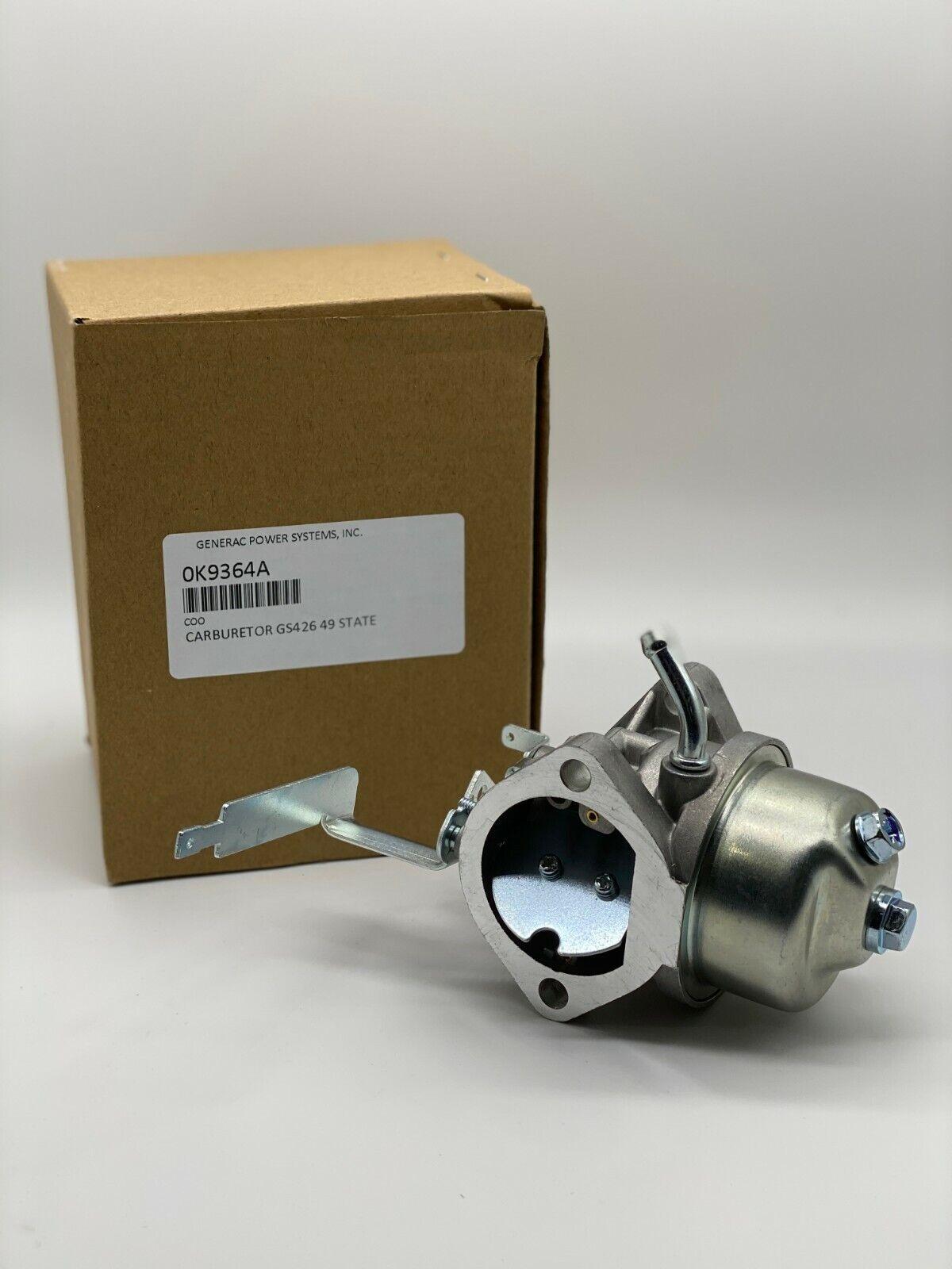 Genuine Generac 0K9364A Carburetor Fits GS426 49 State OEM