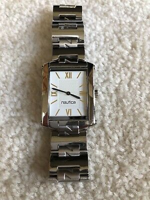 VINTAGE NAUTICA MENS METAL RECTANGLE WATCH