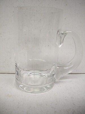 Tiffany   Co Crystal Beer Mug 5 1 2  Tall By 3 1 4  Wide