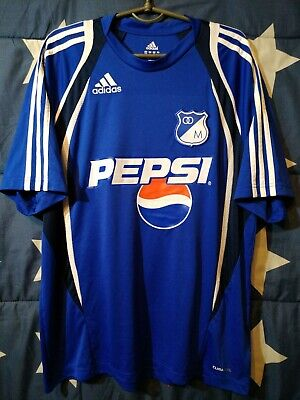 SIZE L Millonarios Colombia 2008-2009-2010 Home Football Shirt Jersey image