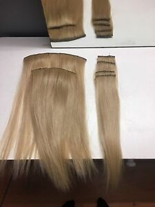 "14"" natural blond hair extensions"
