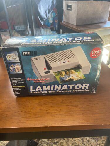 "Laminator 4""x 6"" TDE Systems, NEW IN OPEN BOX, LOOKS UNUSED"