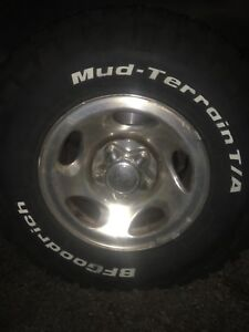 4 brand new BF Goodrich KM2 tires and rims.