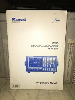 Marconi 2955a Communication Test Set Programming Manual