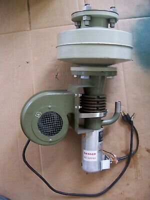Varian 0159 Air Cooled Diffusion Pump With Liquid Nitrogen Cryotrap 150ls