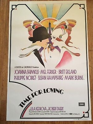 Time For Loving 1972 Original British Film Poster Joanna Shimkus  Art Deco
