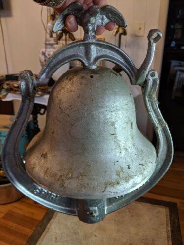 Gorgeous Vtg Cast Aluminum Metal 1976 Spirit of 76 Bicentennial Bell Post Mount