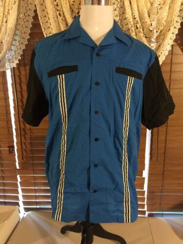 Men's Vintage Hilton Bowling Retro Large Shirt Unfrigginbowlievable Blue Black