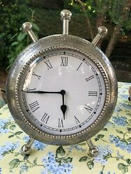 UniqueTextured Aluminum Metal Table Clock  (9)