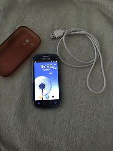 Samsung galaxy S3 mini 8GB pebble blue $120 now $90 today ONLY Baldivis Rockingham Area Preview
