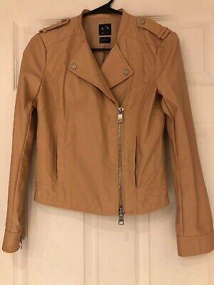 Armani Exchange Leather Jacket Women Faux Size Small