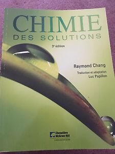 Chimie des Solutions 3e édition
