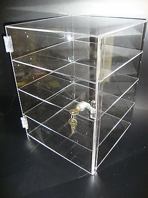 305displays Acrylic Countertop Display Case 12 X 12 X 16 Locking Showcase