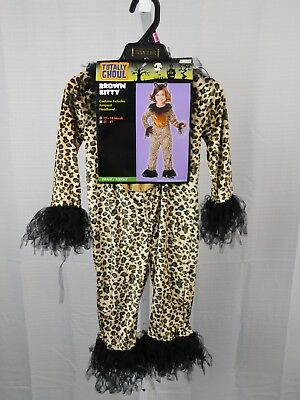 Cheetah Jumpsuit Costume (Brown Kitty Cheetah Halloween Dress-Up Costume Jumpsuit Only 12-18 Months)