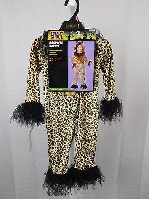 Brown Kitty Cheetah Halloween Dress-Up Costume Jumpsuit Only 12-18 Months - Cheetah Jumpsuit Costume