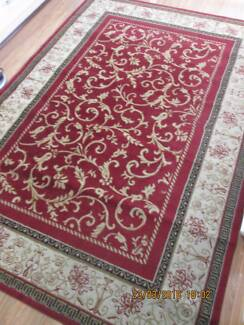 RUG     230cm by 160cm   red