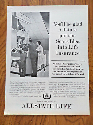 1962 Allstate Life Insurance Ad Youll Glad Allstate Put Sears Idea Into Life