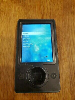 Microsoft ZUNE 30 Black (30 GB) Digital Media Player - Black works great  Microsoft Zune Player