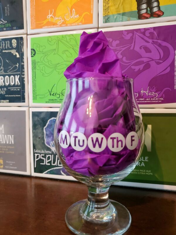Cycle Brewing Weekday Beer Glass 2016