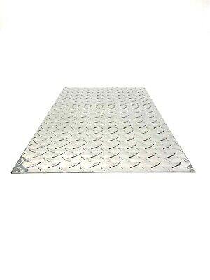 Diamond Tread Plate Aluminum .045 24 X 48 3003 . 18 Gauge Chrome Polish