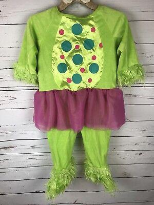 Little Monster Costume 3T-4T Halloween Lime Green Purple Polka Dots Furry - Purple Monster Costume