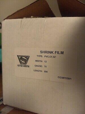 Part Roll Super Shrink Film Wrap Centerfold Pvc Cf Si 12 Inch 75 Gauge 330 Ft