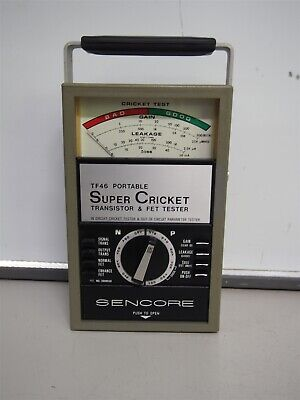 Sencore Tf46 Super Cricket Transistor Fet Tester