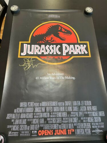 JEFF GOLDBLUM SIGNED JURASSIC PARK FS 27x40 POSTER EXACT PROOF COA AUTOGRAPHED