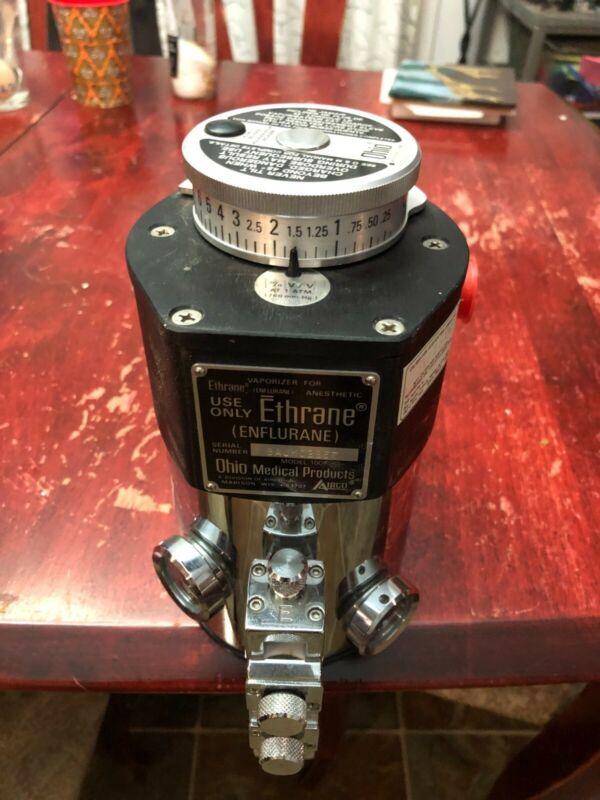 Anesthetic vaporizer Ethrane (Enflurane) vintage Ohio medical Veterinary