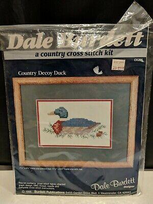Country Cross Stitch Kit Dale Burdett designer Duck Decoy Sealed
