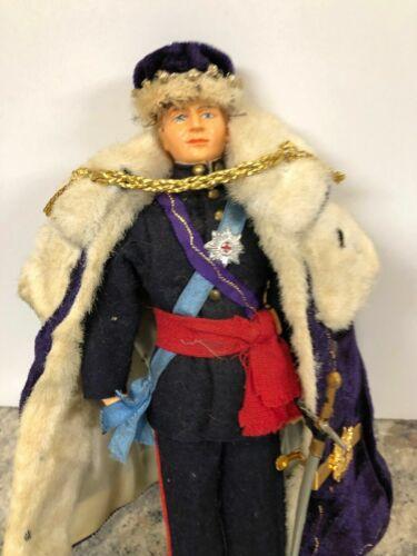 Prince Charles Duke Windsor Royal Knight Garter Figure Doll Coronation Crown HRH