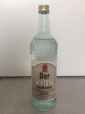 Flasche Etikett Schnaps VEB Weinbrennerei Meerane Der Weisse aus Meerane